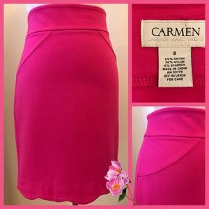 Pink Scalloped Pencil Skirt size 8 🌸